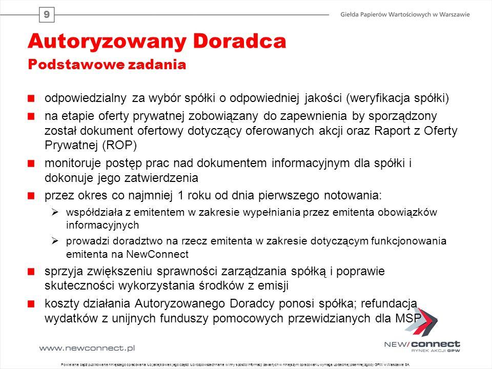 www.newconnect.pl GIEŁDA PAPIERÓW WARTOŚCIOWYCH w Warszawie ul.