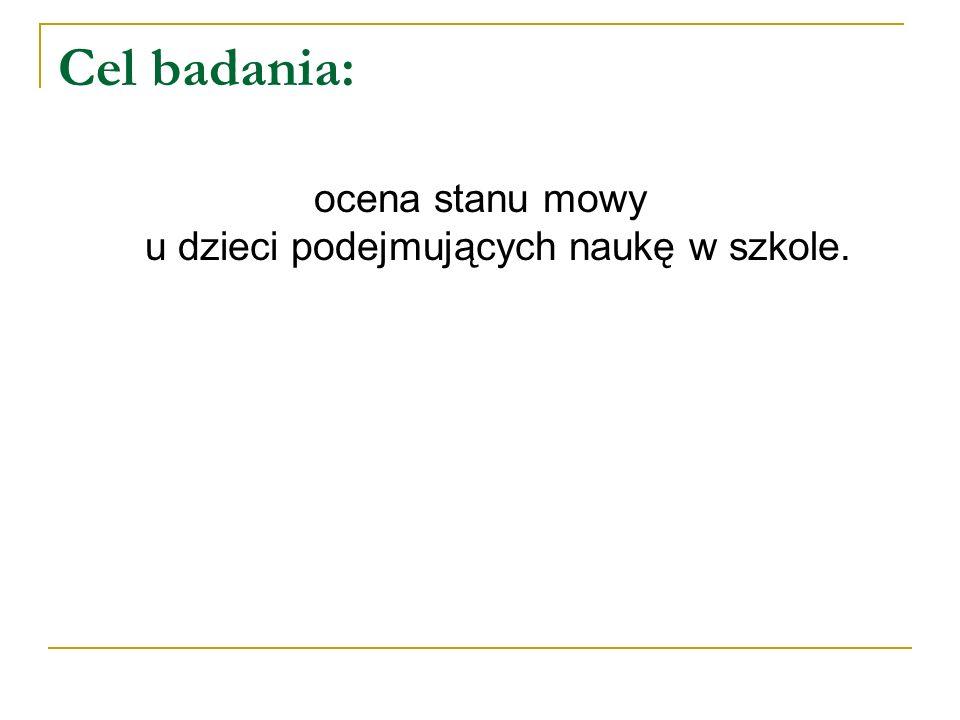 Termin przeprowadzenia badania: Wrzesień 2012r, po otrzymaniu pisemnej zgody rodziców.