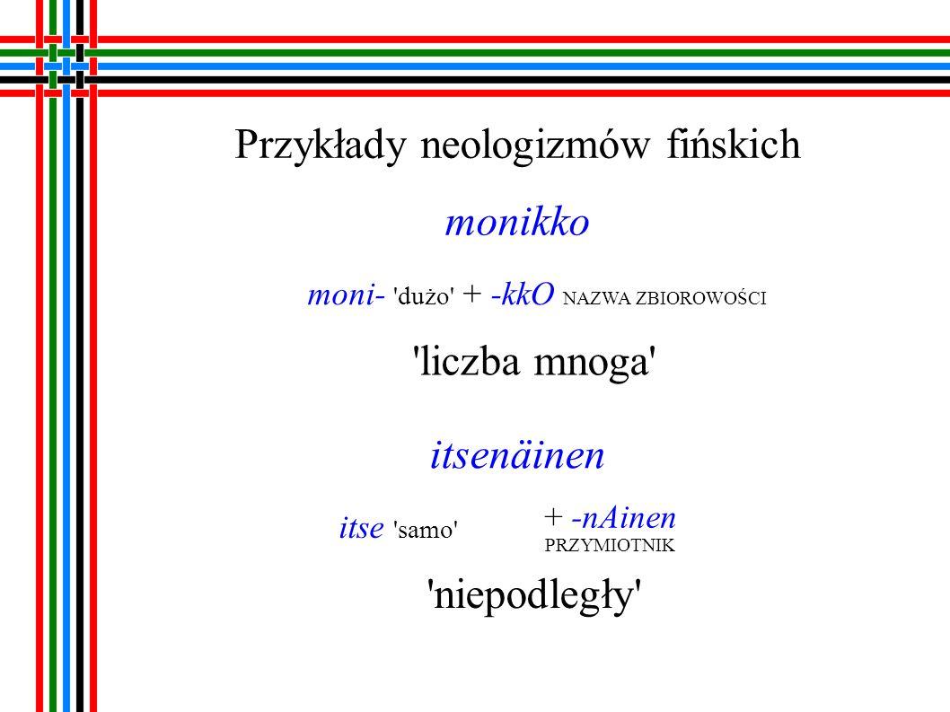 Przykłady neologizmów udmurckich лулчеберет [lulcieberet] (лул dusza + чебер ładny )+ -эт ABSTR.