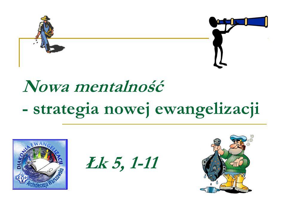 Nowa mentalność - strategia nowej ewangelizacji Łk 5, 1-11