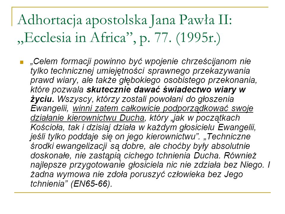 Adhortacja apostolska Jana Pawła II: Ecclesia in Asia, p.