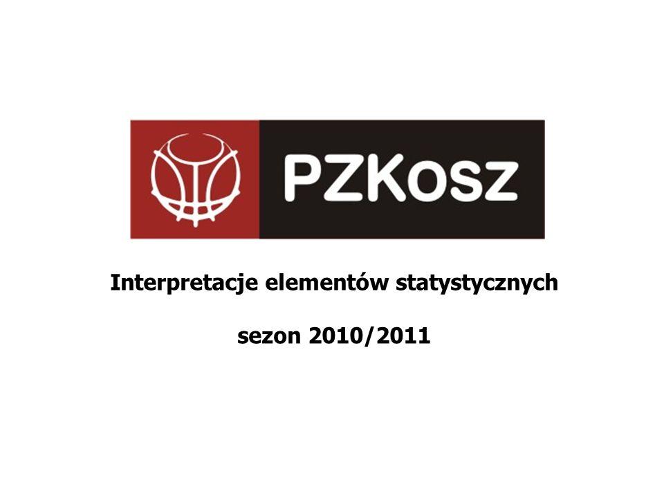 Interpretacje elementów statystycznych sezon 2010/2011