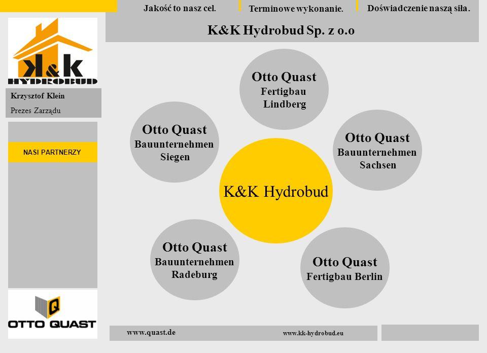 Krzystof Klein Geschäftführer 04.November 2008 Qualität ist unsere Verpflichtung Schnelligkeit unser Auftrag Erfahrung unsere Stärke K&K Hydrobud Sp.