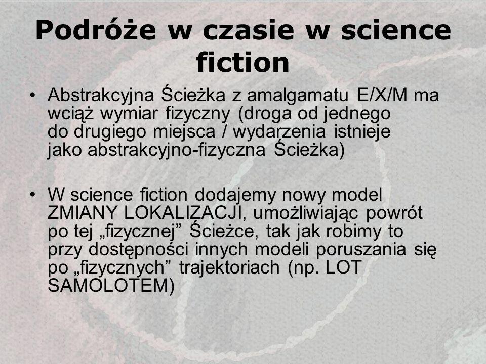 Podróże w czasie w science fiction Abstrakcyjna Ścieżka z amalgamatu E/X/M ma wciąż wymiar fizyczny (droga od jednego do drugiego miejsca / wydarzenia
