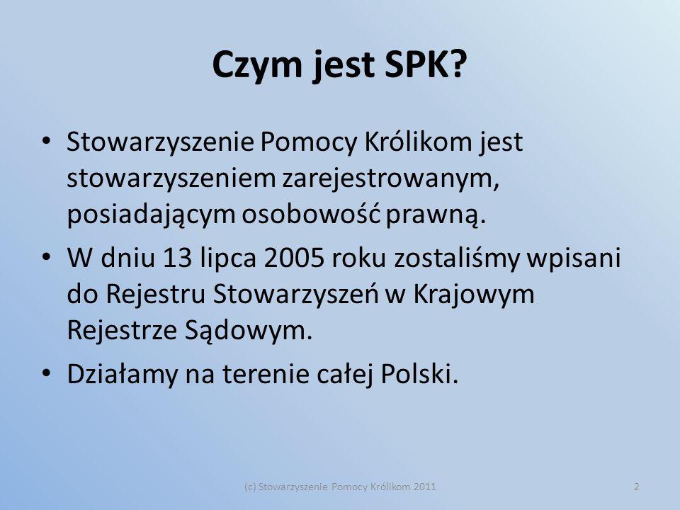 Dziękuję za uwagę! Stowarzyszenie Pomocy Królikom Marta Paśnicka marta.pasnicka@kroliki.net