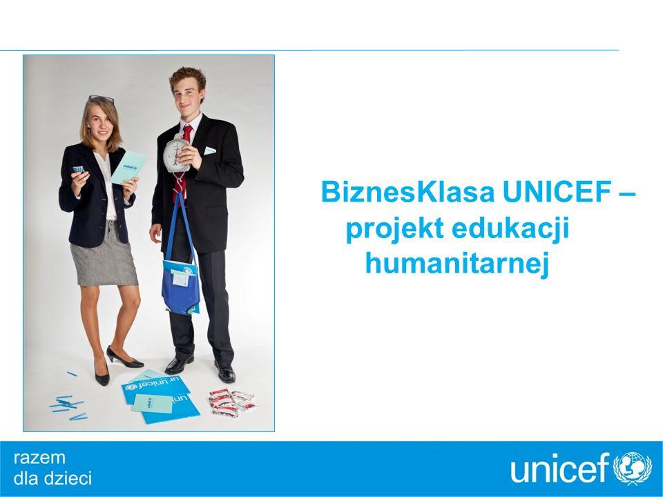 BiznesKlasa UNICEF to projekt edukacyjny skierowany do młodych ludzi, którzy chcą zdobyć wiedzę na temat pomocy humanitarnej i zrealizować ciekawy projekt społeczny.
