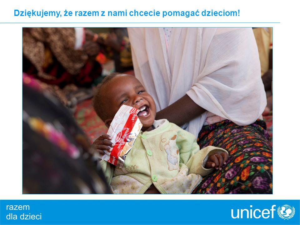 Dziękujemy, że razem z nami chcecie pomagać dzieciom!
