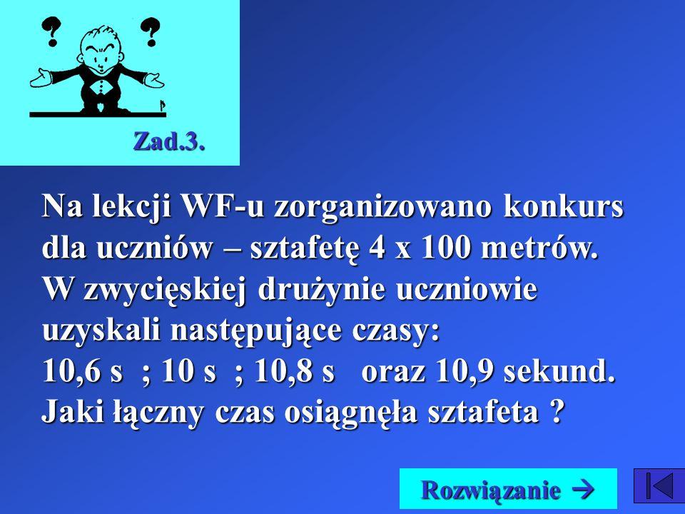 Ania wydała na prezent dla koleżanki na zakup kompaktu 26 złotych i 89 groszy. Odpowiedź: