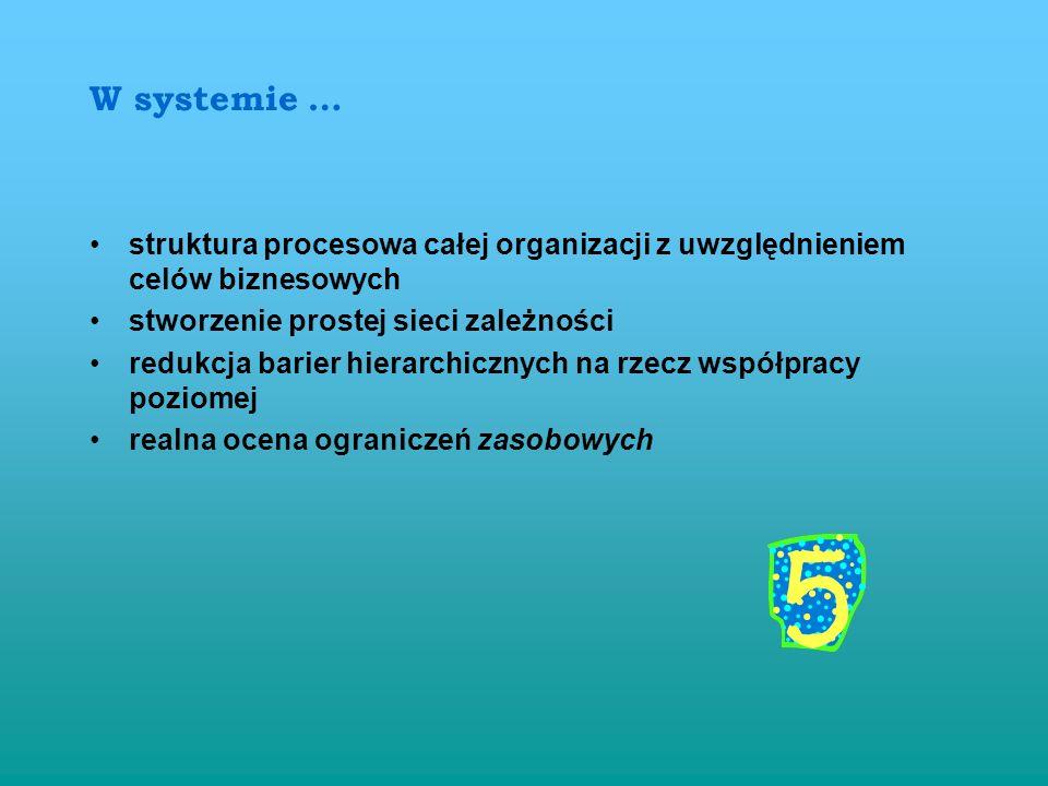 Ciągłe doskonalenie Orientacja na klienta MIERNIKI JAKOŚCI PROCESU wg normy ISO 9000 : 2000 SKUTECZNOŚĆ (ang. effectiveness - 3.2.14) - stopień, w jak