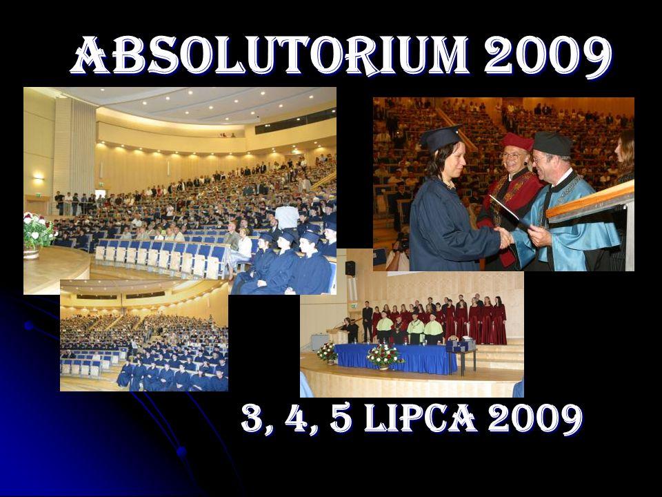 ABSOLUTORIUM 2009 3, 4, 5 LIPCA 2009