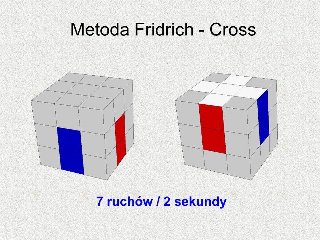 Metoda Fridrich - Cross 7 ruchów / 2 sekundy