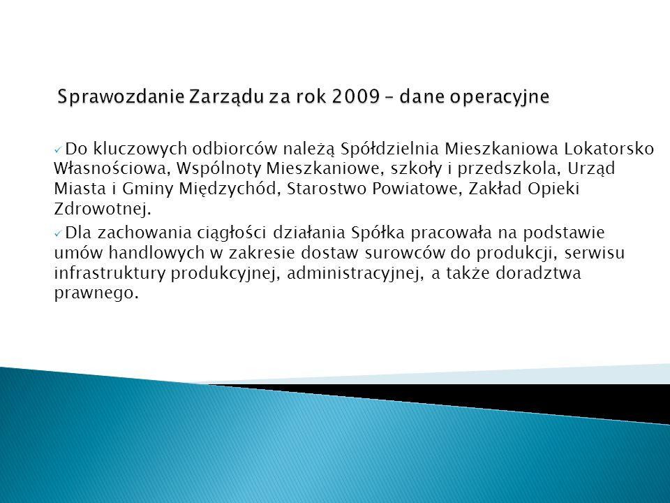 Istotnym zdarzeniem roku 2009 był proces przyłączenia nowego klienta do miejskiej sieci ciepłowniczej.