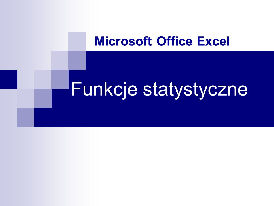 Funkcje statystyczne Microsoft Office Excel