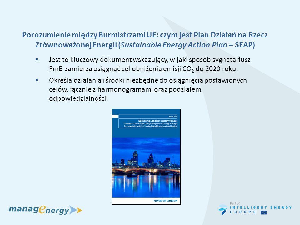 Porozumienie między Burmistrzami UE: czym jest Plan Działań na Rzecz Zrównoważonej Energii (Sustainable Energy Action Plan – SEAP) Jest to kluczowy do