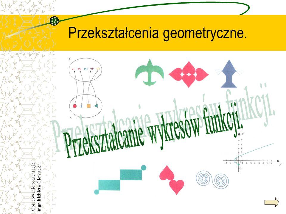 Przekształcenia geometryczne. Opracowanie prezentacji: mgr Elżbieta Głowacka