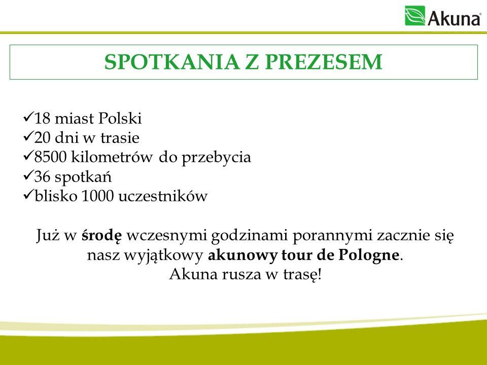 18 miast Polski 20 dni w trasie 8500 kilometrów do przebycia 36 spotkań blisko 1000 uczestników Już w środę wczesnymi godzinami porannymi zacznie się