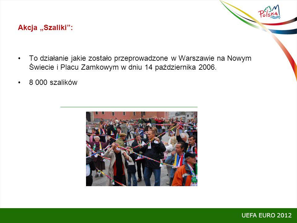 Akcja Szaliki: To działanie jakie zostało przeprowadzone w Warszawie na Nowym Świecie i Placu Zamkowym w dniu 14 października 2006. 8 000 szalików UEF