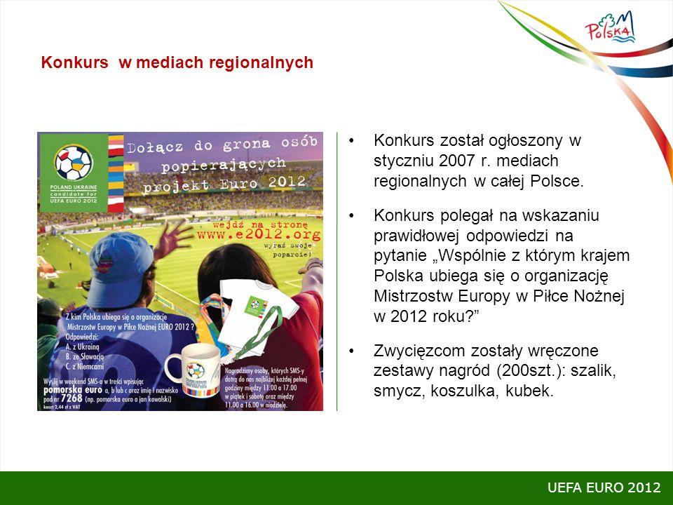 Konkurs w mediach regionalnych Konkurs został ogłoszony w styczniu 2007 r. mediach regionalnych w całej Polsce. Konkurs polegał na wskazaniu prawidłow