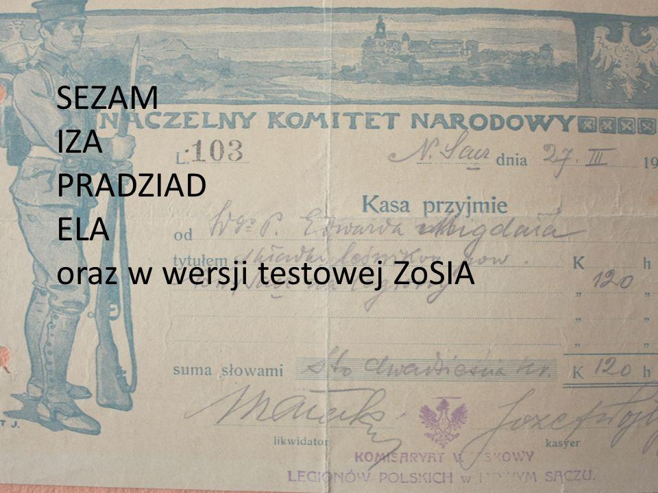 Baza danych SEZAM jest bazą podstawową, w obecnej wersji zawiera informacje o narodowym zasobie archiwalnym przechowywanym w archiwach państwowych (z wyjątkiem archiwów państwowych w Lublinie i Poznaniu oraz ich oddziałów), a także w 23 współpracujących instytucjach krajowych i polonijnych.
