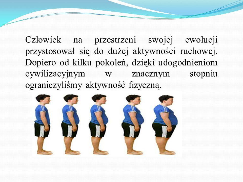 Brak ruchu, nieracjonalne odżywianie oraz stres są przyczyną chorób cywilizacyjnych m.in.: cukrzycy; otyłości; różnych postaci nerwicy; zmian w układzie kostnym.