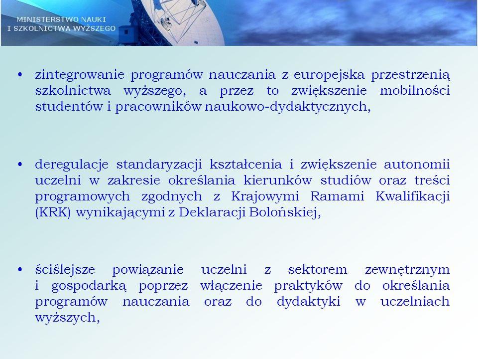 większe umiędzynarodowienie uczelni poprzez włączenie naukowców zagranicznych i polskich pracujących za granicą do edukacji w kraju oraz szersze otwarcie uczelni na studentów zagranicznych, skrócenie ścieżki naukowej pracowników naukowo- dydaktycznych poprzez wprowadzenie uproszczonej procedury habilitacyjnej dla naukowców w Polsce i zrównanie statusu samodzielnych pracowników naukowych pracujących za granicą i w Polsce.