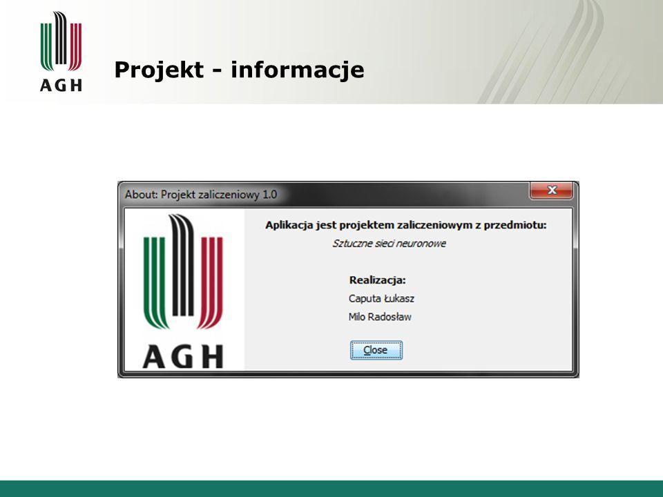Projekt - informacje