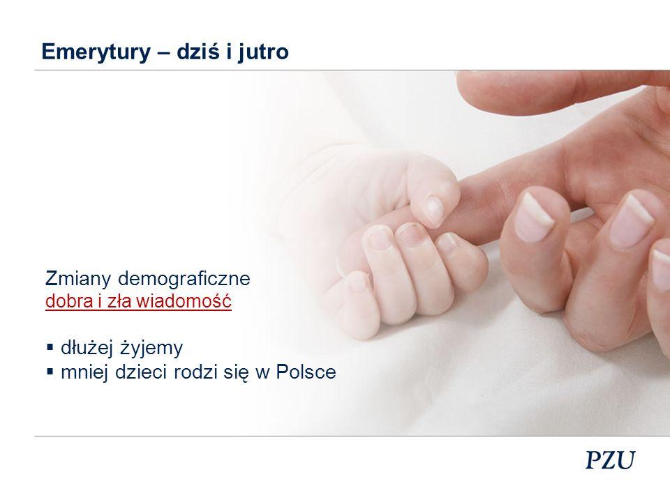 Zmiany demograficzne Struktura demograficzna w Polsce. Źródło: Opracowanie na podstawie danych GUS