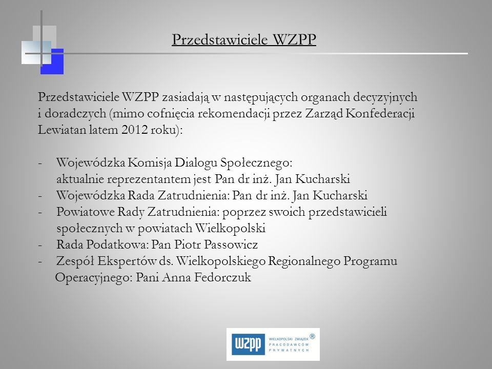 Przedstawiciele WZPP zasiadają w następujących organach decyzyjnych i doradczych (mimo cofnięcia rekomendacji przez Zarząd Konfederacji Lewiatan latem