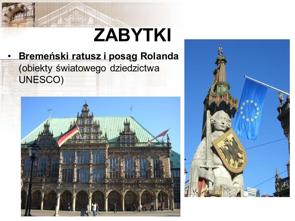 ZABYTKI Bremeński ratusz i posąg Rolanda (obiekty światowego dziedzictwa UNESCO)