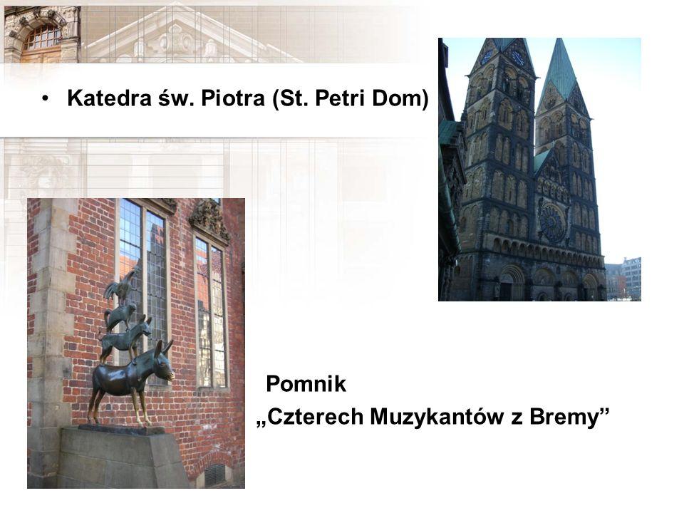 Katedra św. Piotra (St. Petri Dom) Pomnik Czterech Muzykantów z Bremy