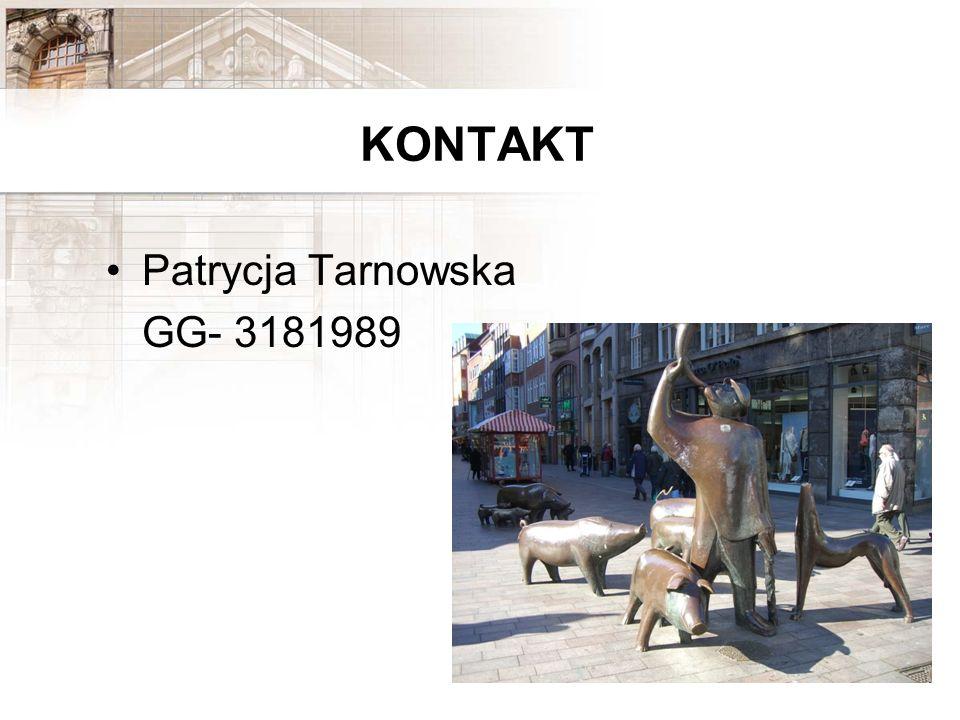 KONTAKT Patrycja Tarnowska GG- 3181989
