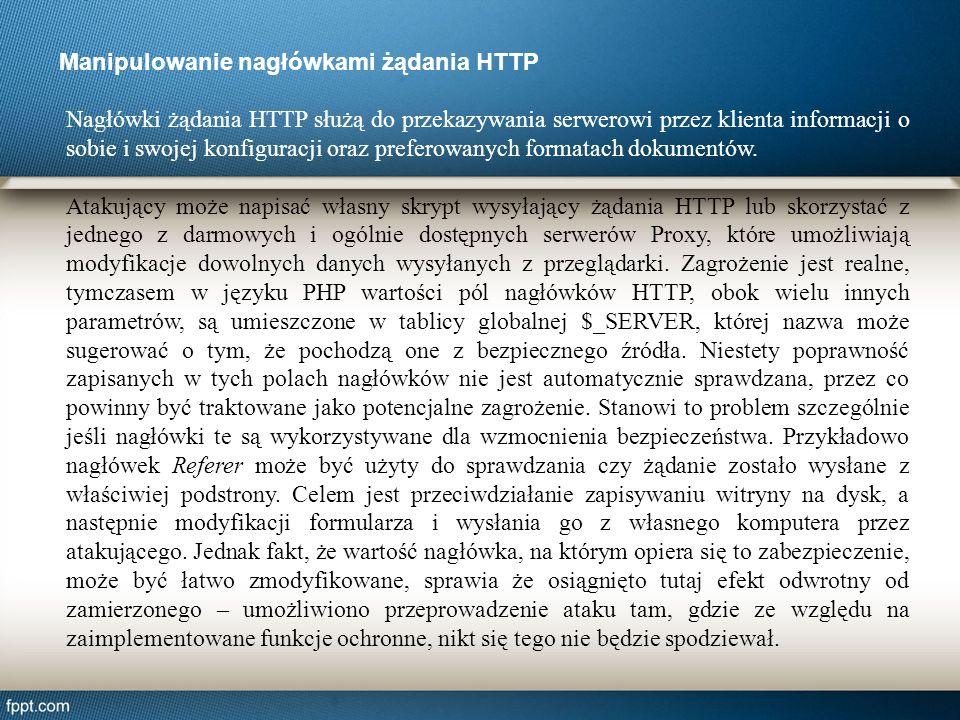 Nagłówki żądania HTTP służą do przekazywania serwerowi przez klienta informacji o sobie i swojej konfiguracji oraz preferowanych formatach dokumentów.