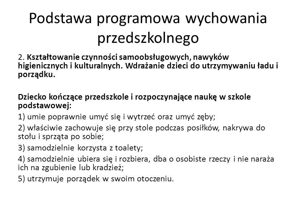 Podstawa programowa wychowania przedszkolnego 2.