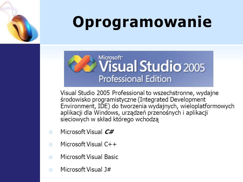 Oprogramowanie Visual Studio 2005 Professional to wszechstronne, wydajne środowisko programistyczne (Integrated Development Environment, IDE) do tworz