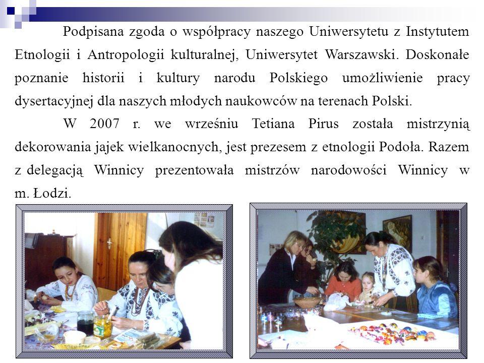Podpisana zgoda o współpracy naszego Uniwersytetu z Instytutem Etnologii i Antropologii kulturalnej, Uniwersytet Warszawski. Doskonałe poznanie histor