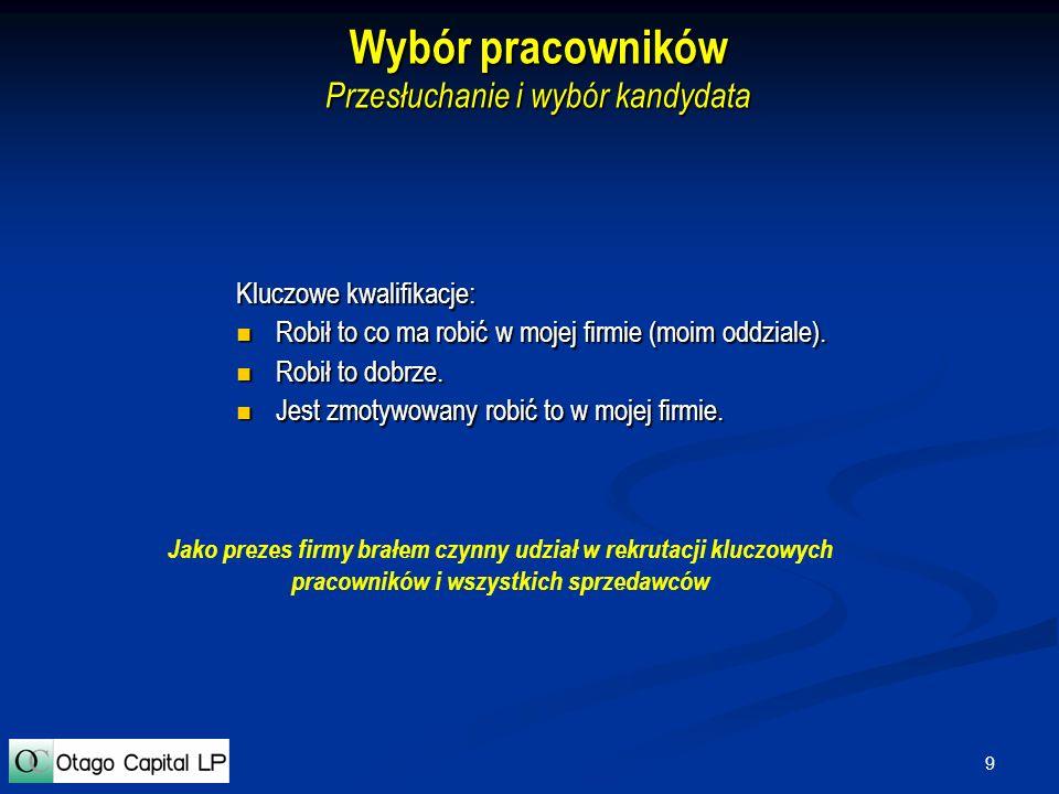 20 Monitorowanie projektów Przykład raportu Przykład raportu