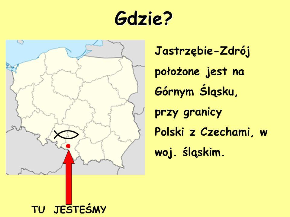 . TU JESTEŚMY Jastrzębie-Zdrój położone jest na Górnym Śląsku, przy granicy Polski z Czechami, w woj. śląskim. Gdzie?