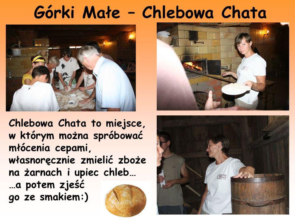 Górki Małe – Chlebowa Chata Chlebowa Chata to miejsce, w którym można spróbować młócenia cepami, własnoręcznie zmielić zboże na żarnach i upiec chleb…
