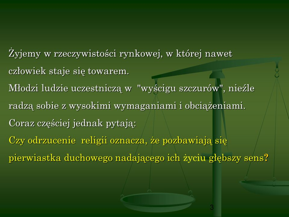 14 Główne wymiary duchowości (1) 1.
