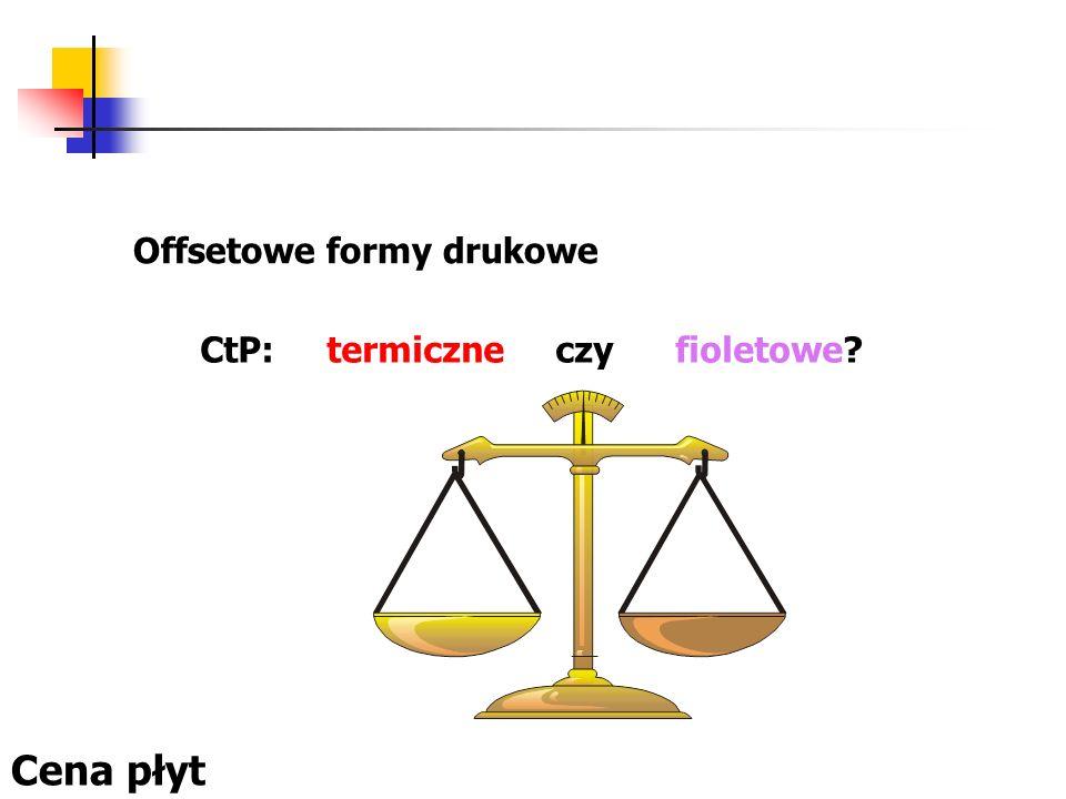Offsetowe formy drukowe CtP: termiczne czy fioletowe? Cena płyt