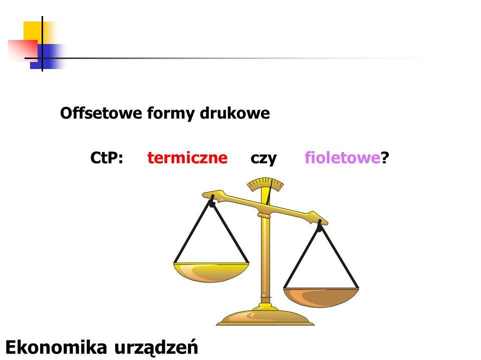 Offsetowe formy drukowe CtP: termiczne czy fioletowe? Ekonomika urządzeń
