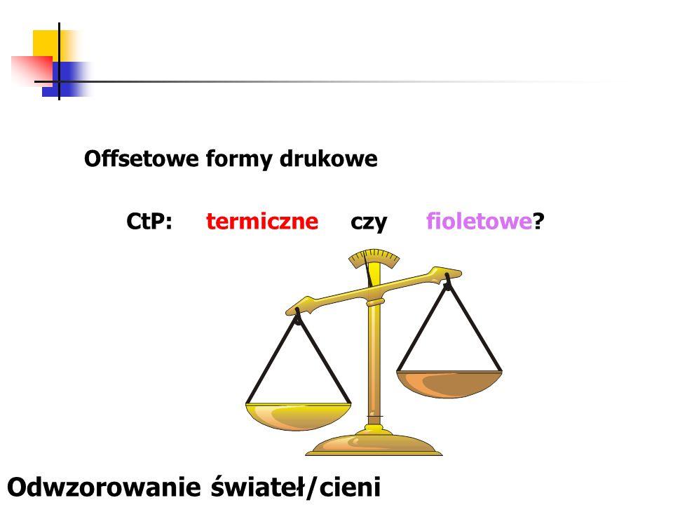 Offsetowe formy drukowe CtP: termiczne czy fioletowe? Odwzorowanie świateł/cieni