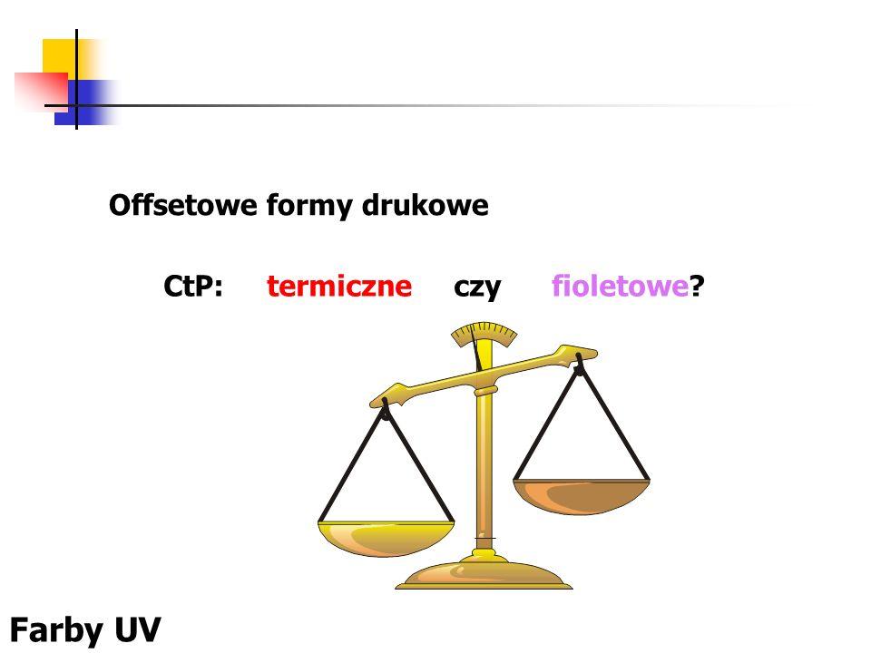 Offsetowe formy drukowe CtP: termiczne czy fioletowe? Farby UV