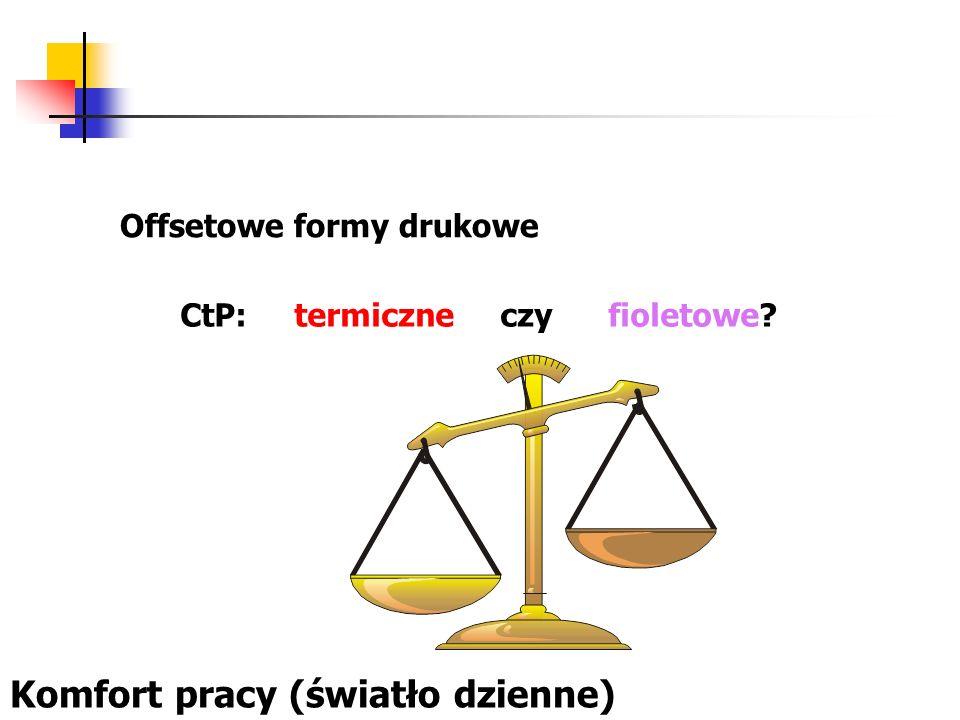 Offsetowe formy drukowe CtP: termiczne czy fioletowe? Komfort pracy (światło dzienne)