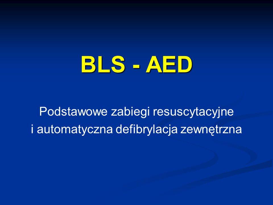 """Prezentacja """"BLS - AED Podstawowe zabiegi resuscytacyjne i ..."""