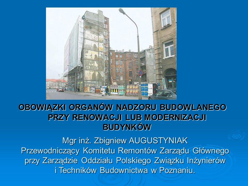 Zatem należy stwierdzić, że pojęcia renowacja budynku i modernizacja budynku nie są ustawowo zdefiniowane więc autorzy literatury fachowej posługując się tymi terminami definiują je na własne potrzeby.