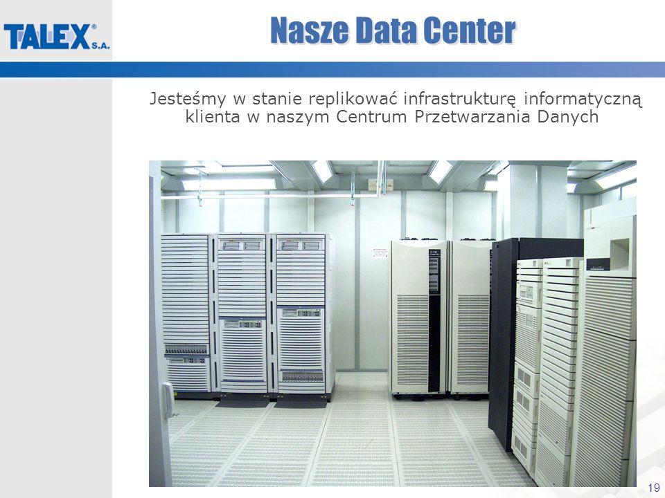 19 Nasze Data Center Jesteśmy w stanie replikować infrastrukturę informatyczną klienta w naszym Centrum Przetwarzania Danych