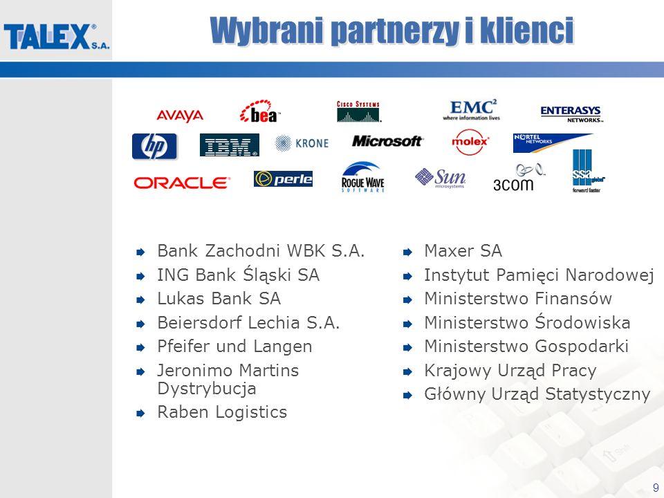 9 Wybrani partnerzy i klienci Bank Zachodni WBK S.A. ING Bank Śląski SA Lukas Bank SA Beiersdorf Lechia S.A. Pfeifer und Langen Jeronimo Martins Dystr