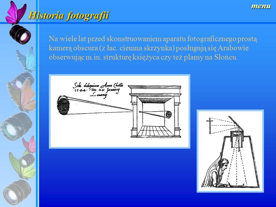 menu Szerokokątne (18 – 35mm) Mają dużą głębię ostrości, wykorzystuje się je do fotografowania w niewielkich pomieszczeniach lub wtedy gdy potrzebny jest bliski kontakt z obiektem.