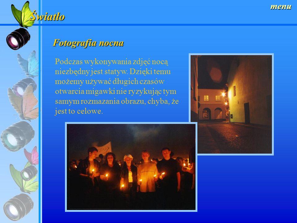 menu Kreowanie oświetlenia studyjnego Przy każdej zmianie punktu padania światła możemy stworzyć niesamowite kompozycje dla tylko jednego fotografowan